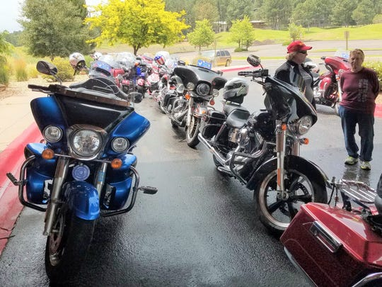 Twenty-two riders came from Albuquerque to Ruidoso for the flag exchange.