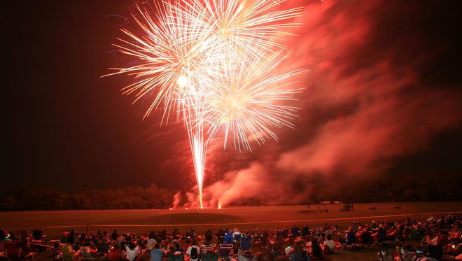 Somerset County's fireworks display is scheduled for Monday, July 4, at North Branch Park in Bridgewater.