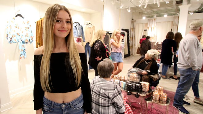 Addison Lobaugh started Prom for a Cause in 2016 and held a donation event Thursday, March 1, 2018, at Sewn Clothing Gallery. More than 150 dresses have been donated so far for girls who want to go to prom.