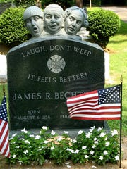 James Bechtold's grave in Metuchen is designed to make you laugh, not cry.