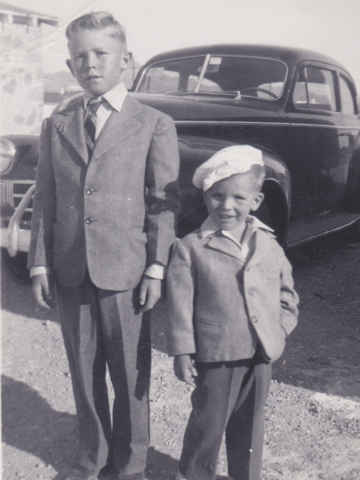 John Arthur Smith with his brother, Jimmy, in 1944