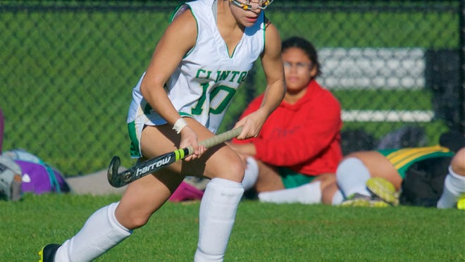 Senior Alana Hoag is playing field hockey for the Clinton Gold squad this fall.