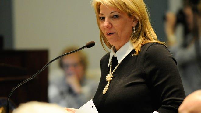 House Majority Leader Valerie Longhurst, a Delaware City Democrat.
