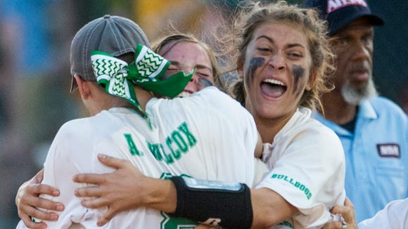 Brantley players celebrate as they win the 1A State
