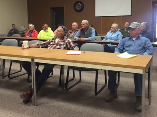 A few residents came to a public hearing Friday, April