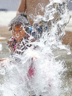 A 2014 file photo of the spray park at the Edgerton Community Center.
