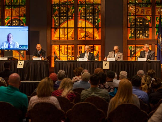 Iron County commissioner candidates respond to a question