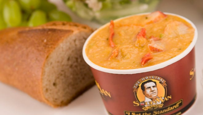 Lobster Bisque is a one of a variety of soups from the Original Soupman Soups now being sold at Kroger stores nationwide