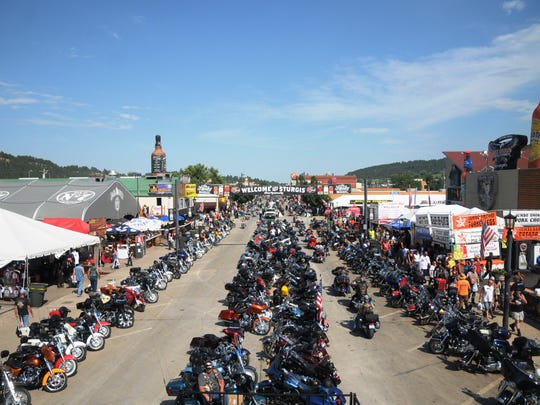 AP Sturgis sales tax revenue from the 75th anniversary