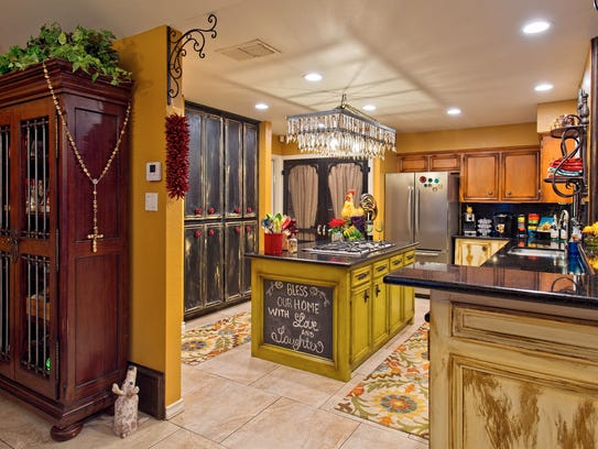 The kitchen is an experience all it's own with colorful
