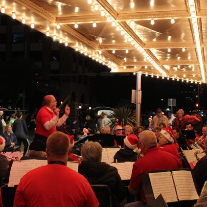 Joe Stephens directs the Abilene Community Band during
