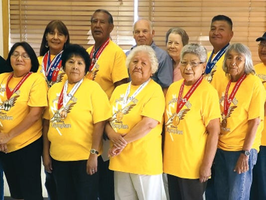 Elders from Mescalero competed and placed well at the 2015 Senior Olympics in Roswell.