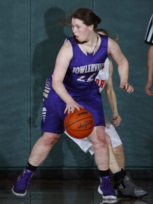 Fowlerville's Jackie Jarvis scored 14 of her game-high 19 points in the third quarter Tuesday against South Lyon East.