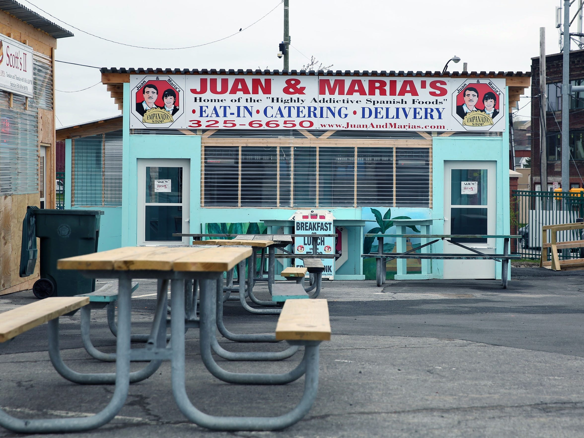 Juan & Maria's Empanada Stop is one of the food vendors housed in converted shipping containers at the Rochester Public Market.
