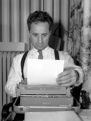 """Noted stage and screen director Elia Kazan is looking forward to visiting the Mississippi Delta, where he will choose a location for a film combining several short plays by Tennessee Williams. No, that's not the script. He's just writing a letter in his room at the Gayoso Hotel on Dec. 5, 1951. He won the Academy Award for his direction of """"Gentleman's Agreement."""""""