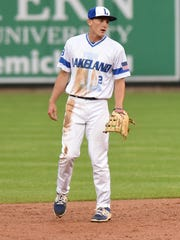 Lakeland High's Grant Smith mans second base for the