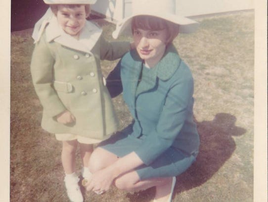 Maureen Blomgren (left) as a child with her mother,
