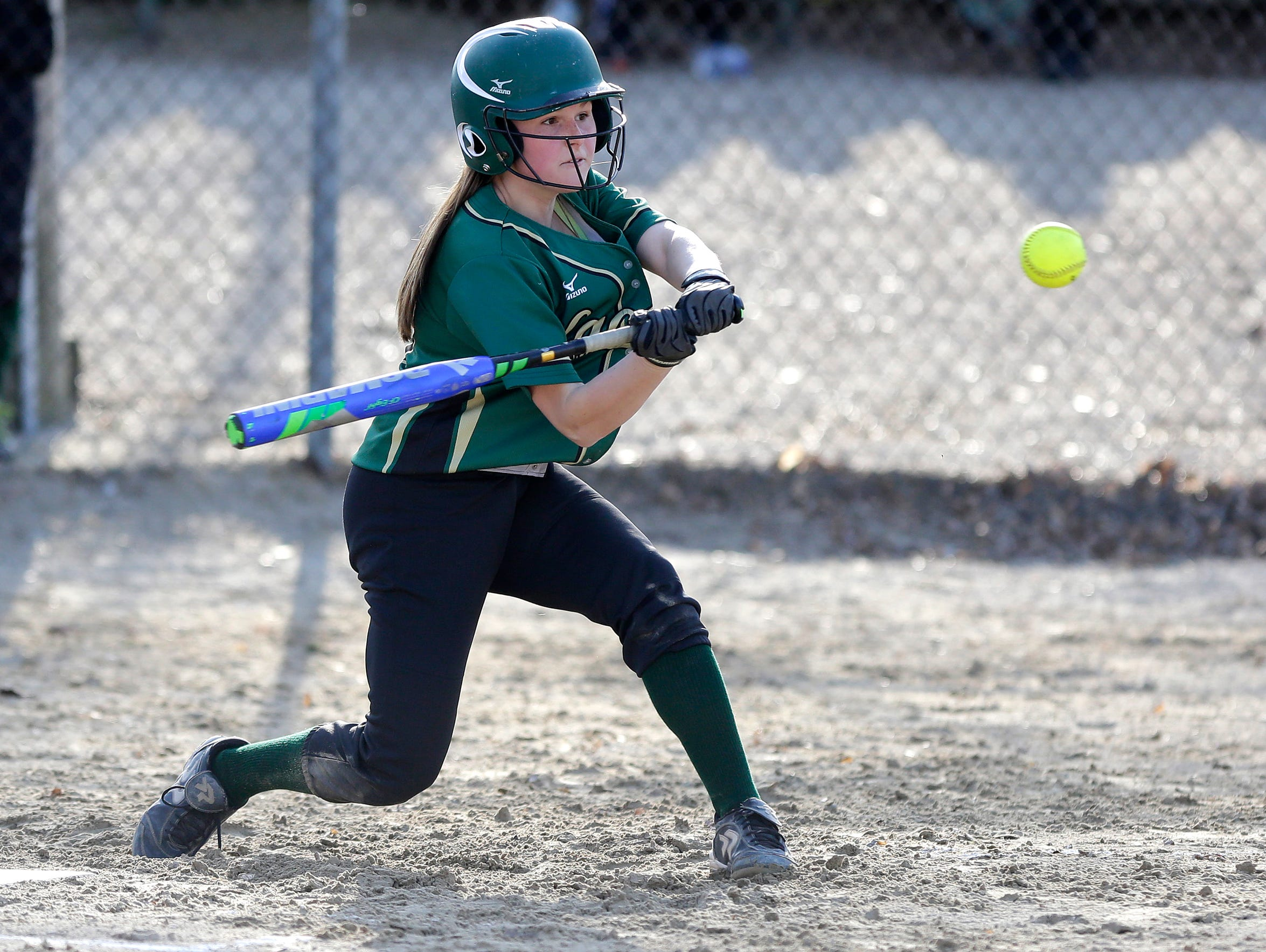 Hannah Grahl of Laconia High School girls softball