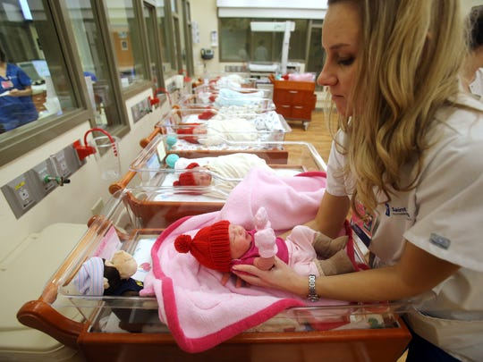 Babies at Saint Thomas Rutherford Hospital will don red caps for National Go Red Day.