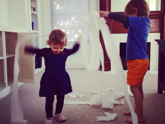 Toilet roll can provide endless fun for trapped children. Their parents? Not so much.