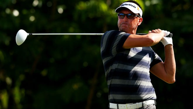 Robert Allenby during the first round of the Sony Open In Hawaii at Waialae Country Club on January 15, 2015 in Honolulu, Hawaii.