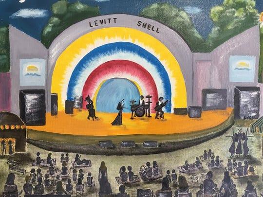 """Evon Gokturk, """"Levitt Shell,"""" oil on canvas, 18-by-24"""