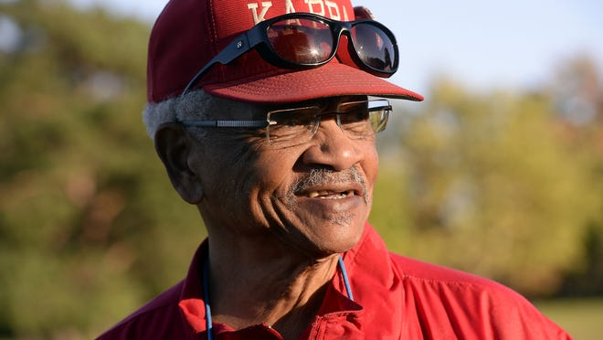 Willard Walker, 80, area civil rights leader, public servant and Kappa Express football program founding member and head coach, looks on as the four Kappa Express teams practice at St. Joseph Park in Lansing in October. The writer praises Walker's influence on area youth.