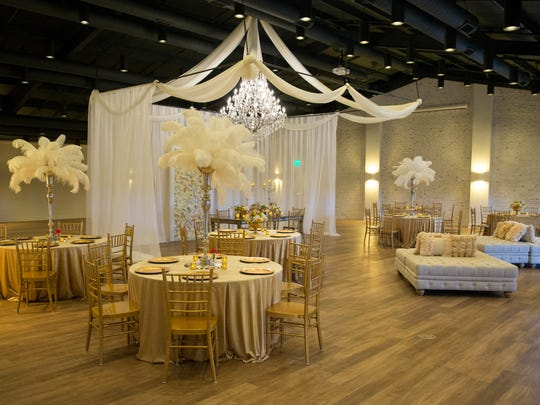 A fully staged wedding room during the opening of Daniel's Family Vineyard and Winery, McCordsville, Sunday, April 30, 2017. The venue includes a tasting room, an area for kids, and spots for various parties.