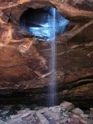 The Glory Hole is an opening in rock that lets rain