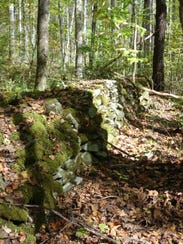 This rock wall was once part of a farm near Eagle Creek