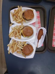 Kay's burger and fries are a classic.