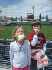 Cotton candy is a food group when you are at an Aces