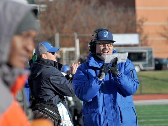 UWF head coach Pete Shinnick during Saturday's NCAA Division II semifinal game against Indiana (Pa.) in Indiana, Pennsylvania.