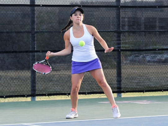Wylie's Analeah Elias lines up a shot during the Region