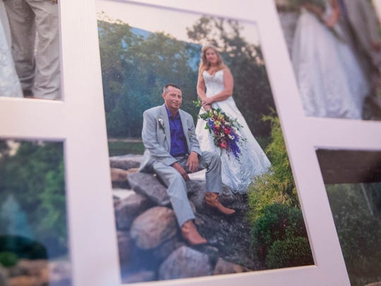 Pictures are framed together from Tim and Angela Flick's