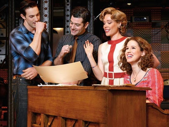 From left, Scott J. Campbell (Gerry Goffin), Ben Jacoby