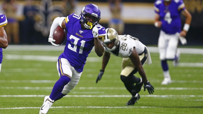 Former Lion Ameer Abdullah is returning kicks for the Vikings and is in the mix to be No. 2 running back.