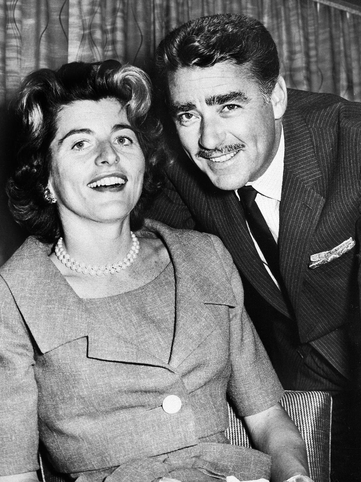 Actor Peter Lawford and his wife, the former Patricia