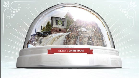 Sioux Falls snow globe