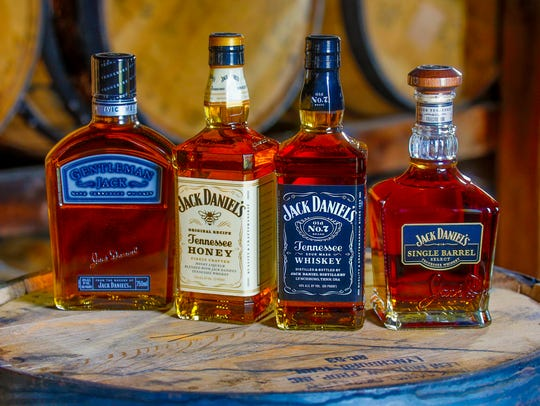 A selection of Jack Daniel's brands.