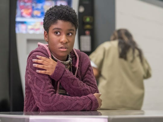 Deja (Lyric Ross) waits to visit her mother, who's