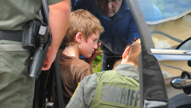 Cole Monda, 11, was found alive on Cedar Ave. in Cocoa Beach between Minutemen and 1st St. South, hiding under a bush.