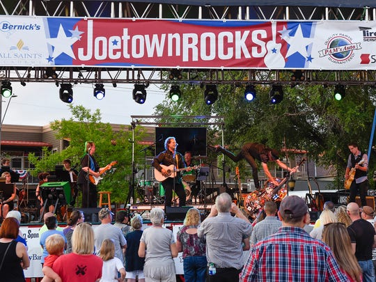 """The Killer Vees took the stage during Joetown Rocks Monday, July 3, in St. Joseph. The Killer Vees headlined Monday's concert with a performance called """"Remembering Bobby Vee."""""""