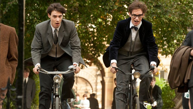 """Harry Lloyd, left, and Eddie Redmayne in """"The Theory of Everything."""""""
