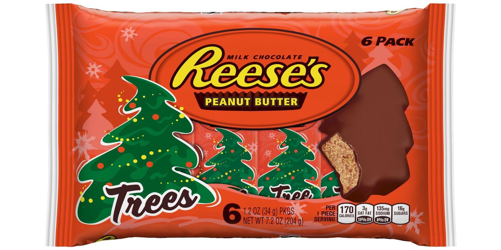 reeses christmas tree shapes causing stir