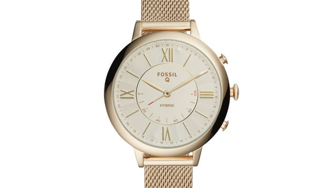 Fossil's hybrid smartwatch, the Fossil Q Jacqueline. The company is increasingly selling directly to customers rather than through third party retailers.