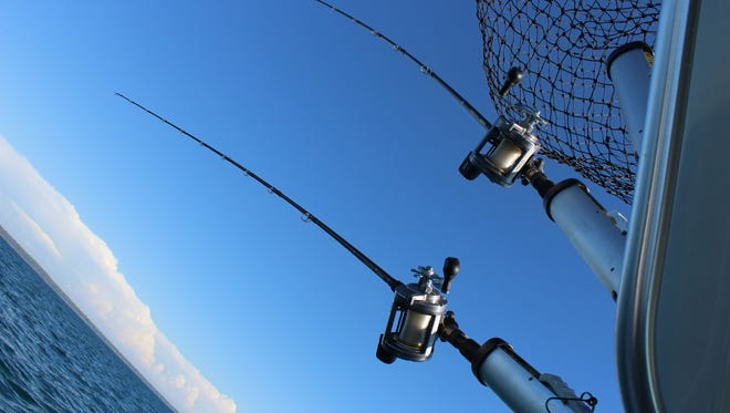 On the Best Chance, Too out of Saugatuck, charter fishing operator Dave Engel knows the cold, deep waters of Lake Michigan by heart. Fishing for lake trout and salmon is done by trolling, with multiple rods and lines at the same time.
