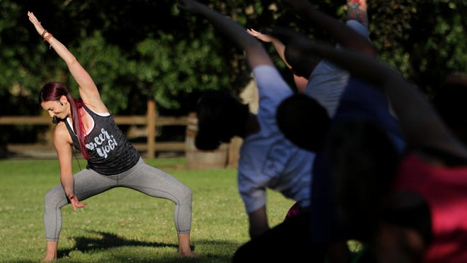 Mikki Trowbridge will lead a yoga class at Willamette Valley Vineyards on Aug. 7.