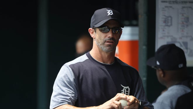 Tigers manager Brad Ausmus in the dugout during the fourth inning against the Royals on Thursday, June 29, 2017 at Comerica Park in Detroit.