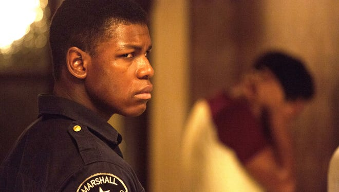 John Boyega plays a private security guard named Melvin. The character is based on the real Melvin Dismukes, who was guarding a store when he became involved in the 1967 upheaval.